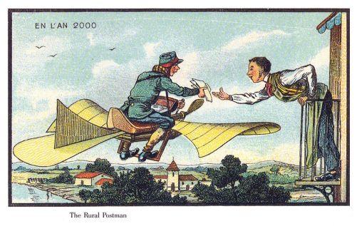futursim year 2000, a flying postman