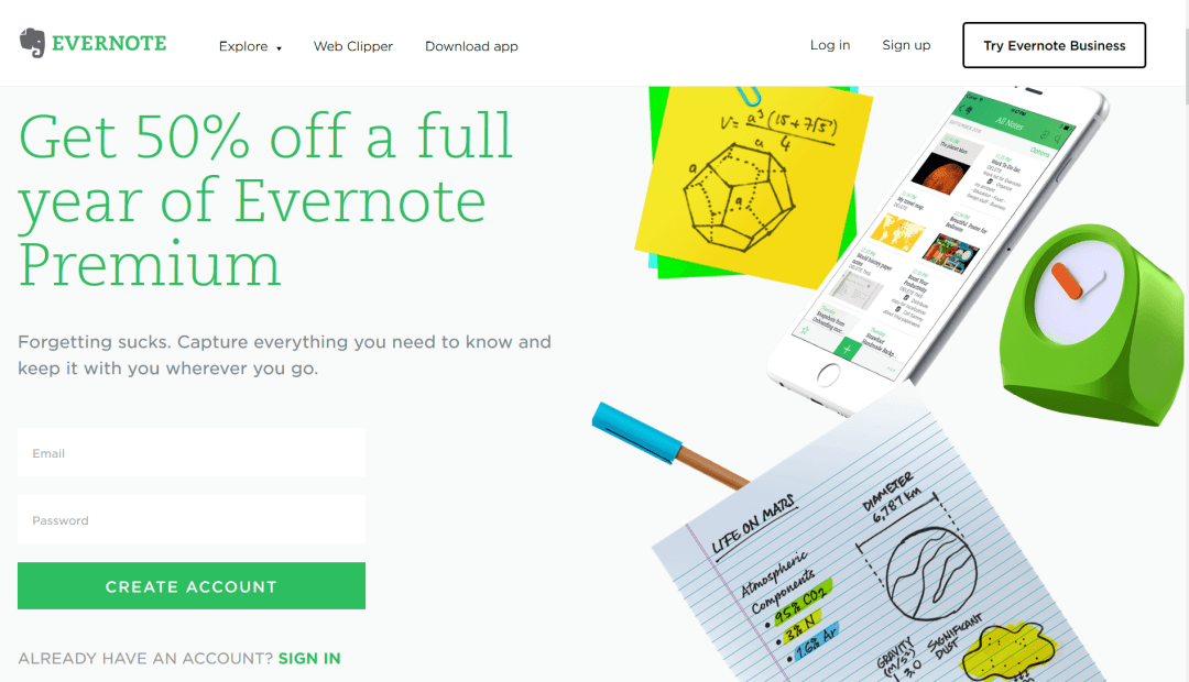 Evernote Student Discount
