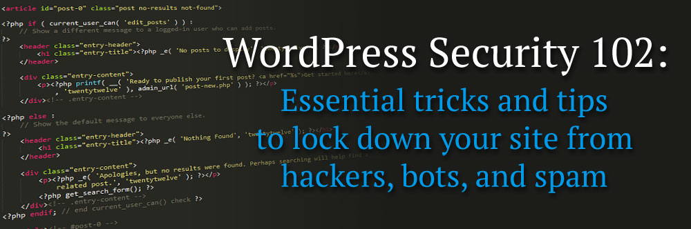 WordPress Security 102
