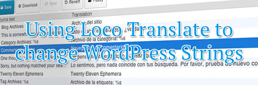 Using Loco Translate to change WordPress Strings