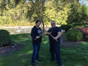 Tommy and JD at the Sandy river.