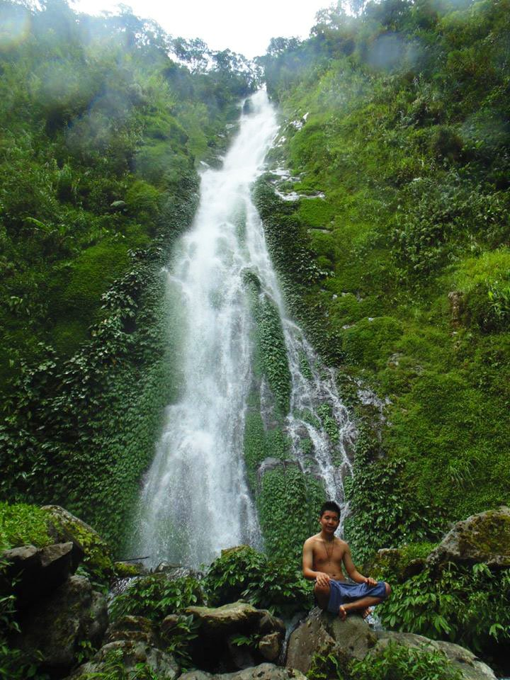 Potec Falls of Lunas. One of the attractions in Barlig.