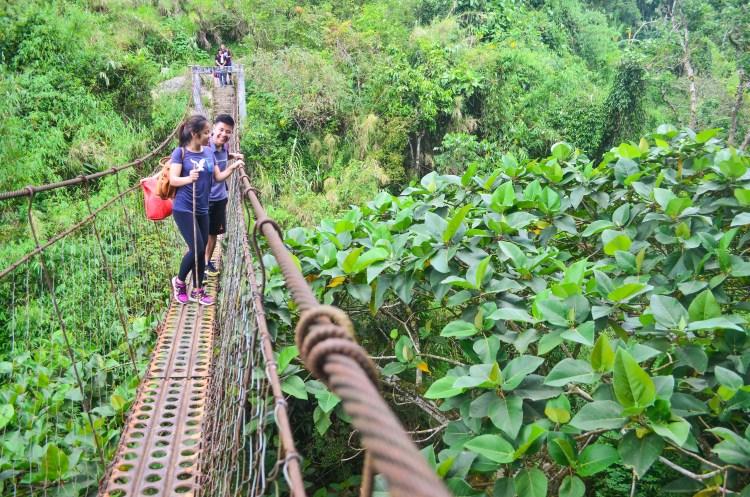 Hanging bridge to Badeo, Kibungan