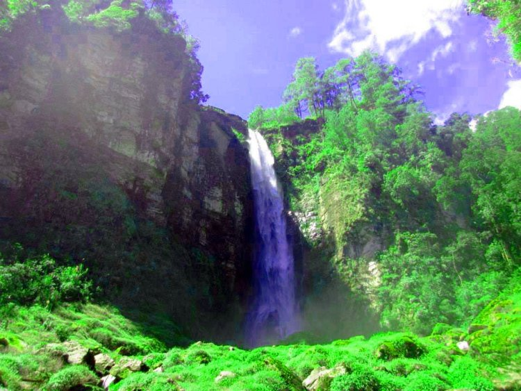 Tagpew falls in Tubo. One of the tourist spots of Abra.