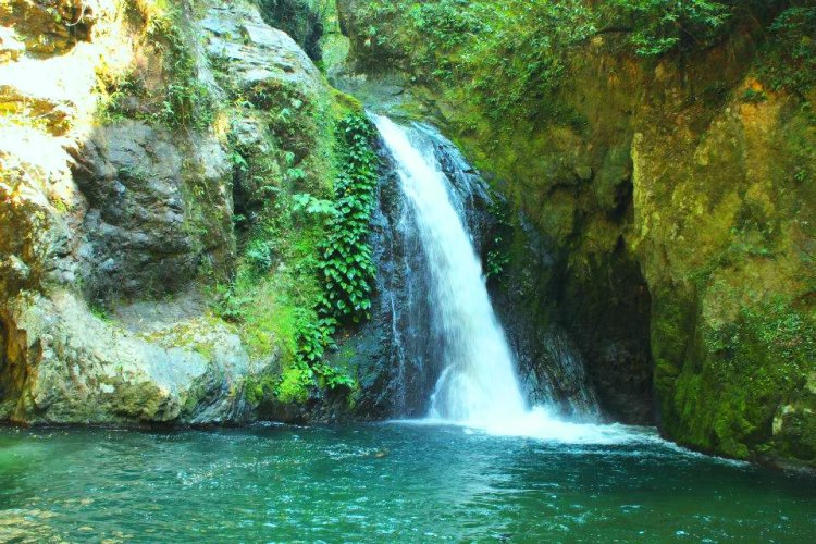 Manambor falls in Tineg. One of the tourist spots of Abra.