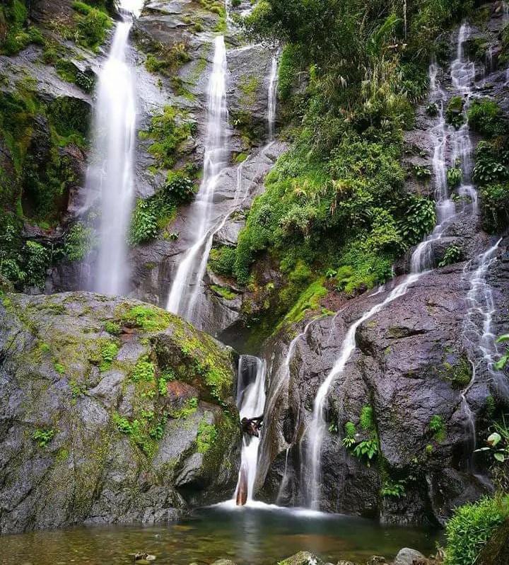 Tenogtog falls of Mayoyao. One of the tourist spots of Ifugao.