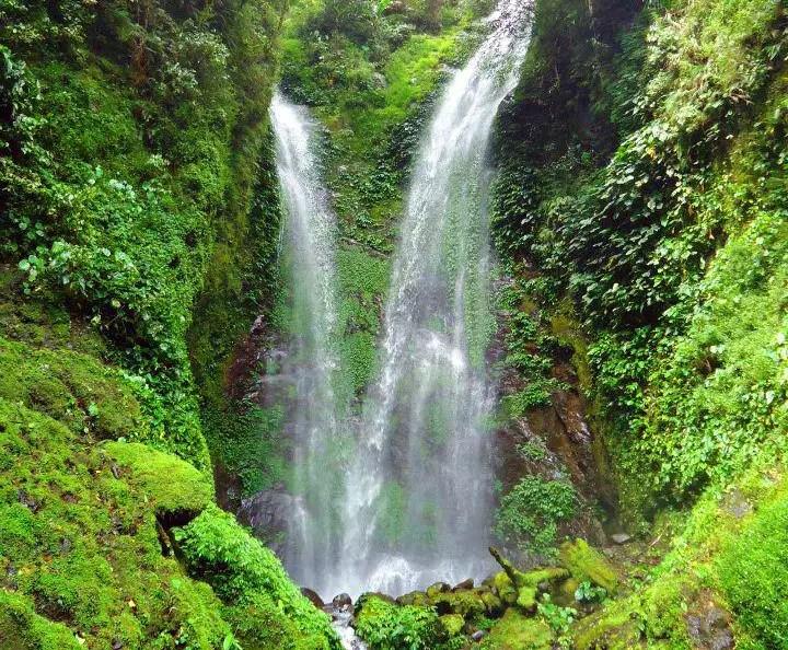 Kafiliw Twin Falls in Lias, Barlig. One of the waterfalls in Mountain Province.