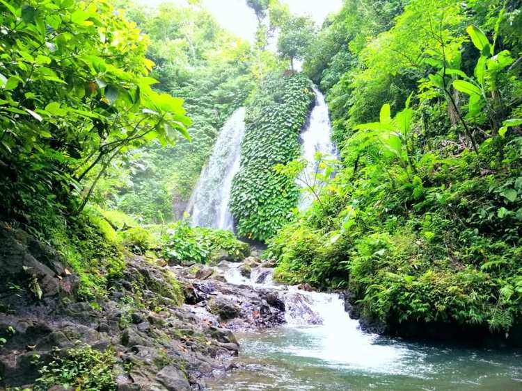 Itbog Twin Falls is one of the tourist spots/destination in Camarines Sur