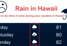 Rain in Hawaii