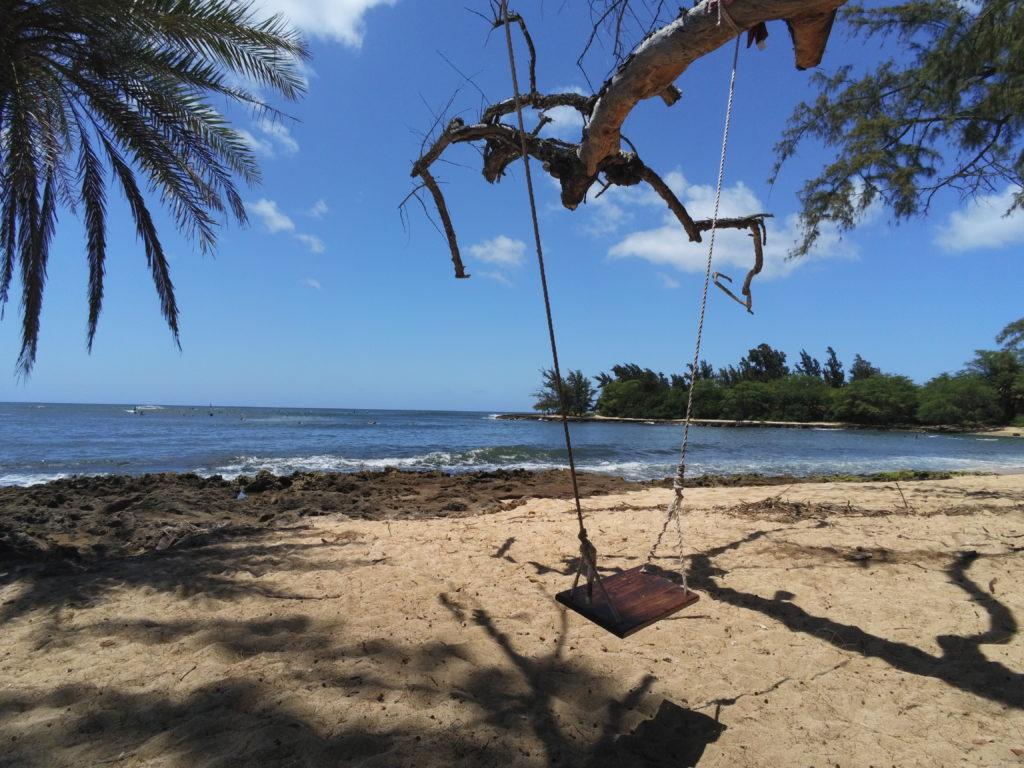 Swing at Puaena Beach North Shore
