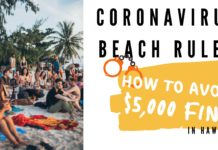 Coronavirus Hawaii Beach Rules