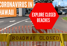 Coronavirus in Hawaii Closed Beaches