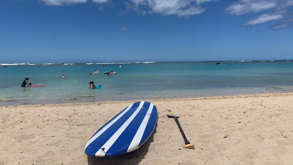 Paddleboard on Beach in Hawaii