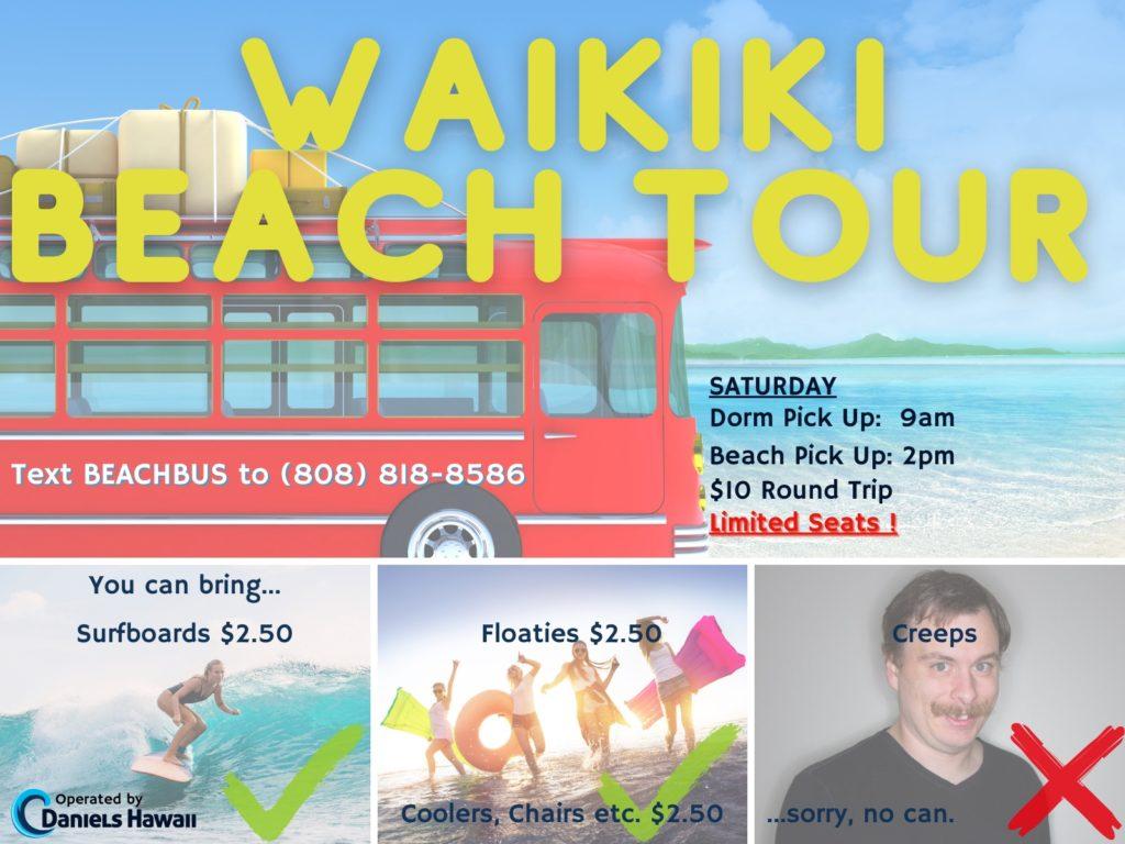 Waikiki Beach Bus for UH Students