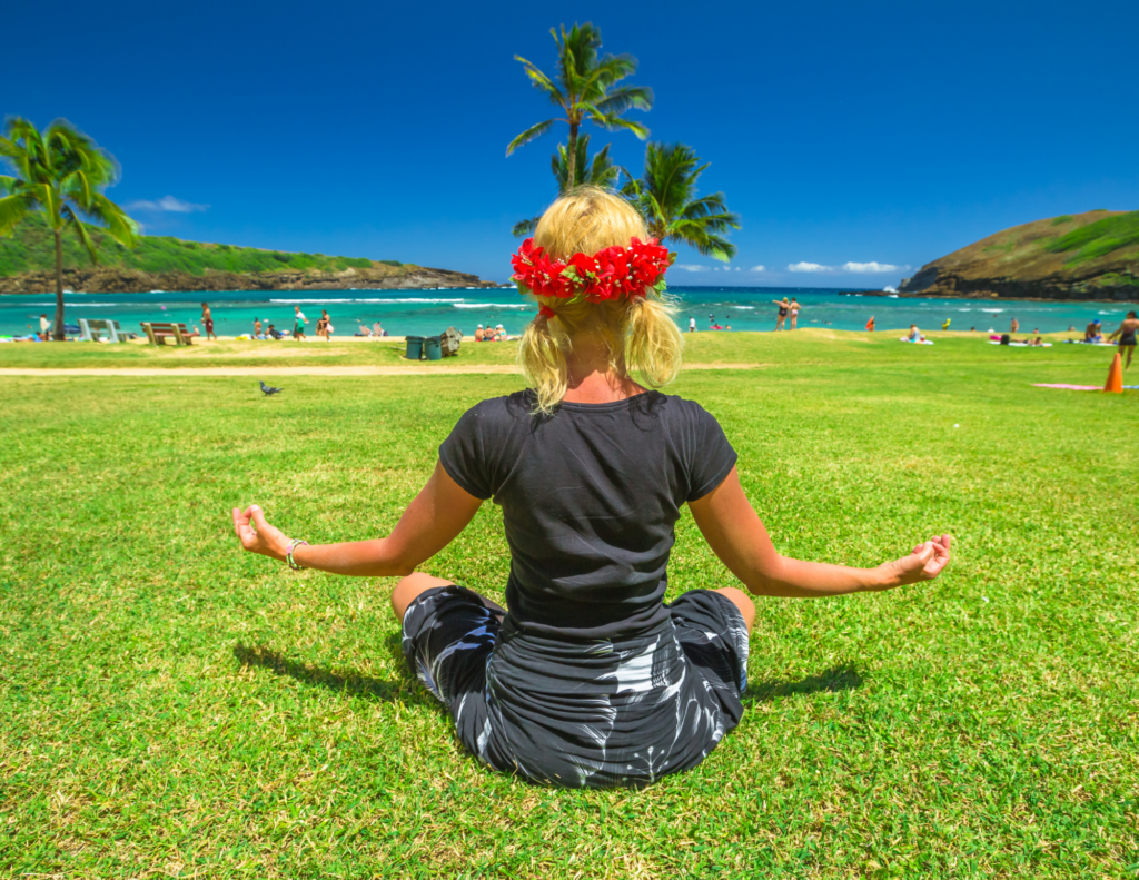 Centering and breathing can improve your island experience.