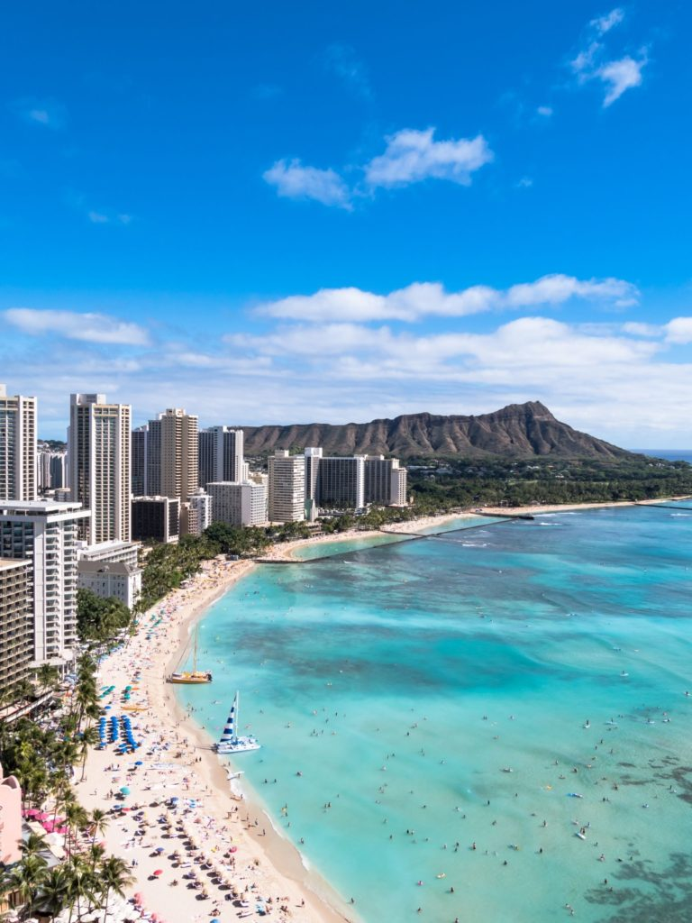 Waikiki is one of the more popular beaches on Oahu.