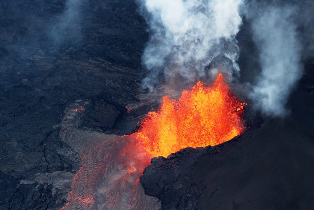 Kilauea volcanic eruption