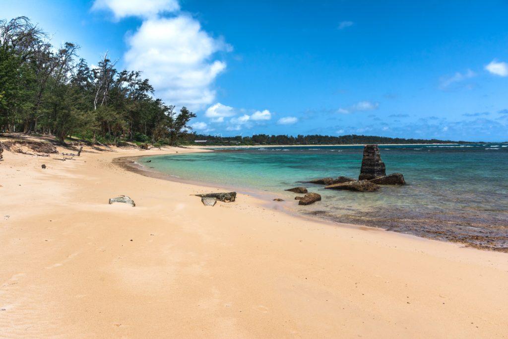 Consider camping in Hawaii at Malaekahana Bay State Park, Oahu