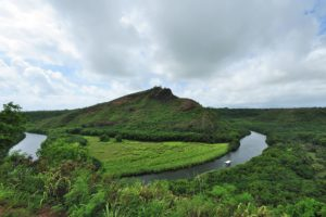 Wailua River State Park contains several sacred Hawaiian temples. Travel pono means being respectful of these cultural landmarks.