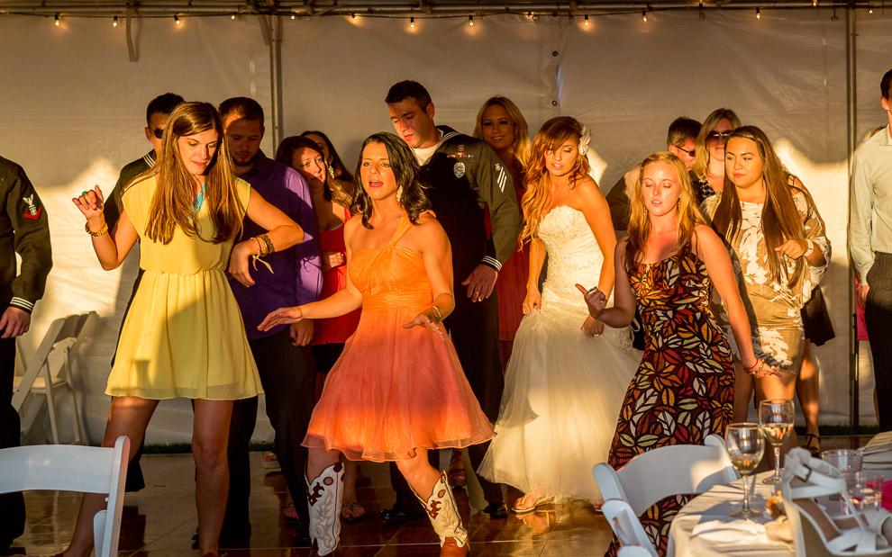 Whidbey Island Wedding dancing