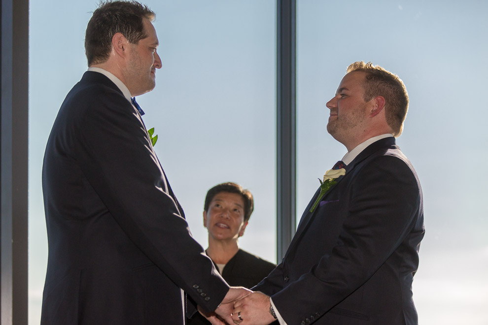 Seattle Wedding photographer Daniel sheehan photographed a gay wedding at the Columbia Tower Club in Seattle
