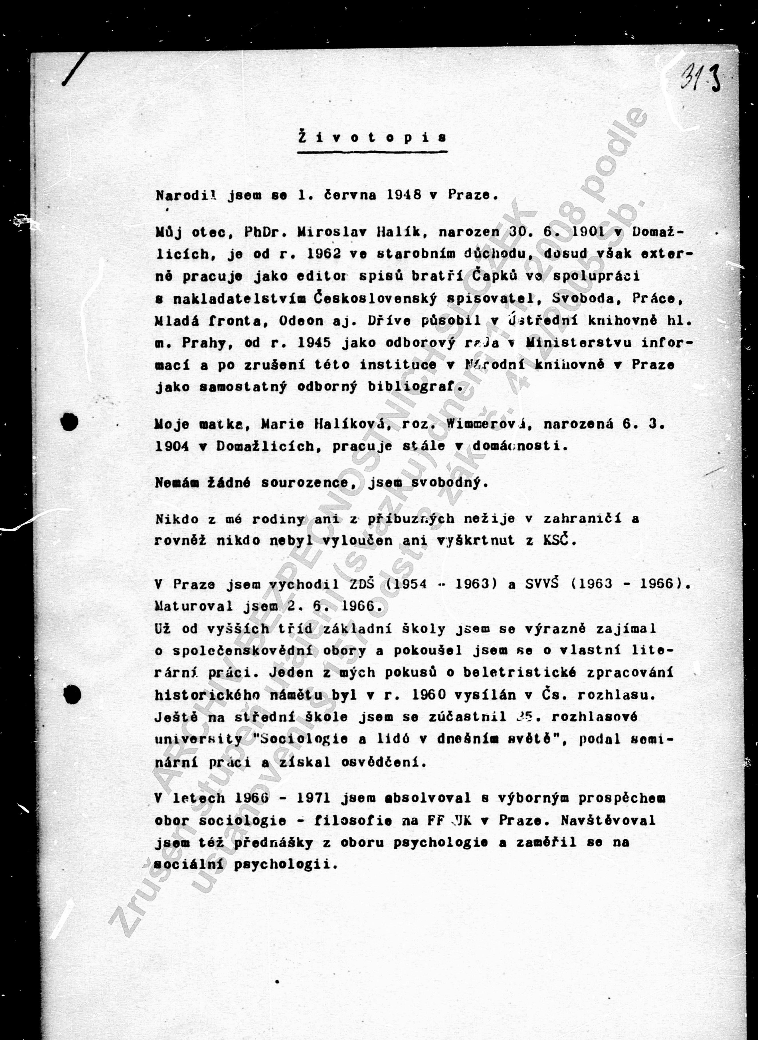 Životopis Halík 1975 (1)