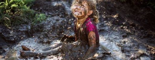 Girl in the mud.