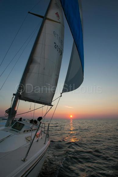 Sunset sailing on Shediac Bridge NB.