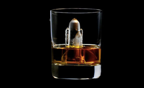 3D Space Shuttle ice cube by Suntory Whiskey