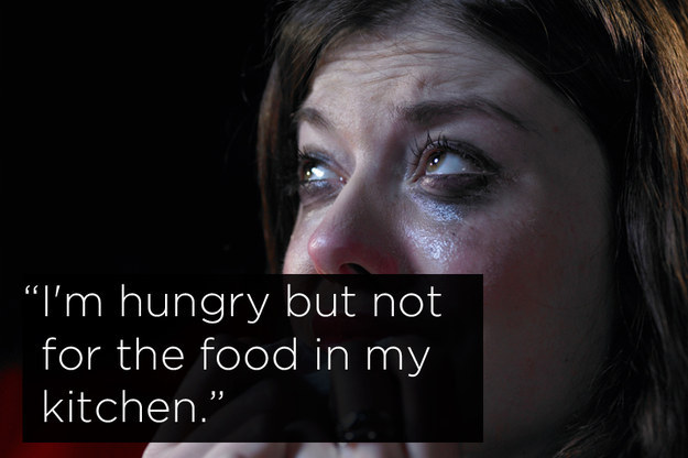 """Humorous middle class problems: """"I'm hungry, but not for the food in my kitchen"""""""