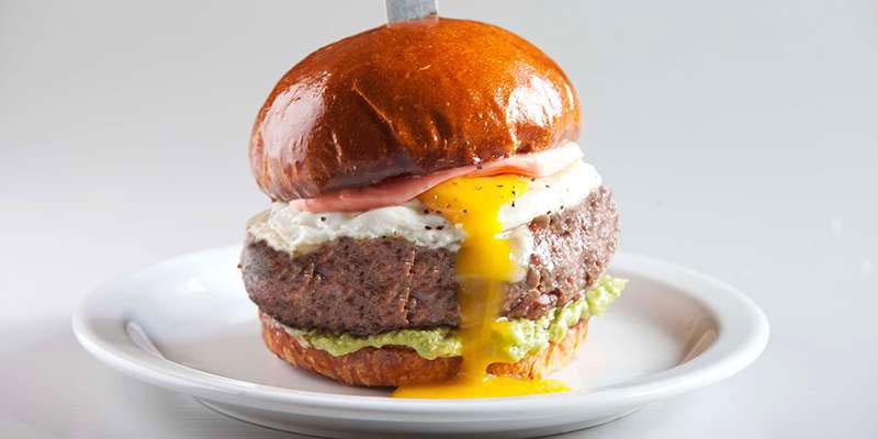 The Breakfast hamburger topping combinations