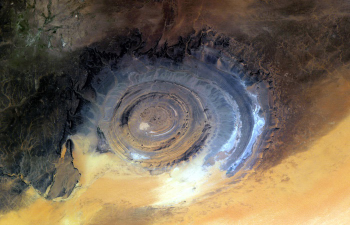 bulls-eye-sahara-desert-mauritania