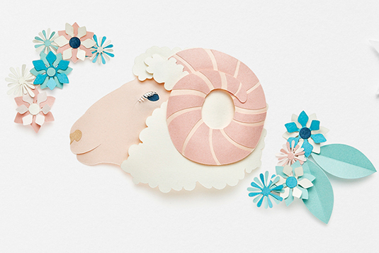 Creative and beautiful Aries star signs made out of paper