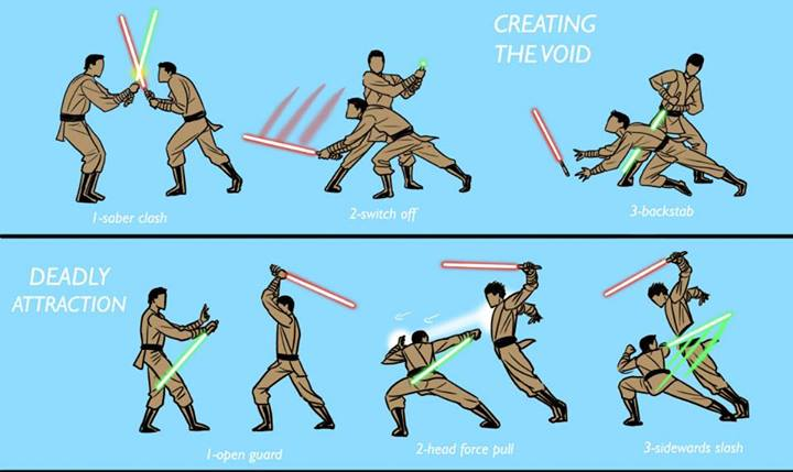 Alternate lightsaber techniques: Creating the Void & Deadly Attraction