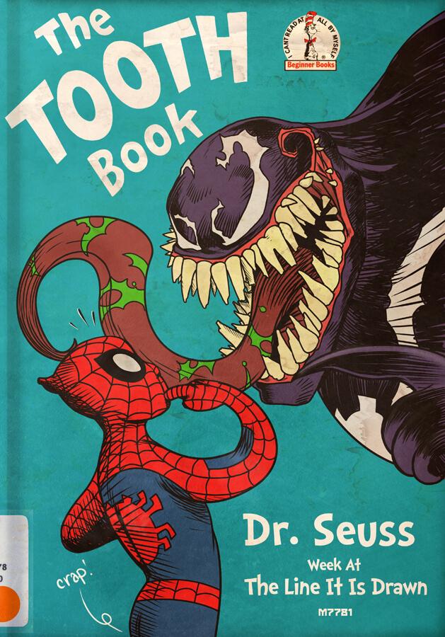 Superhero mashup: Spiderman and Dr. Seuss