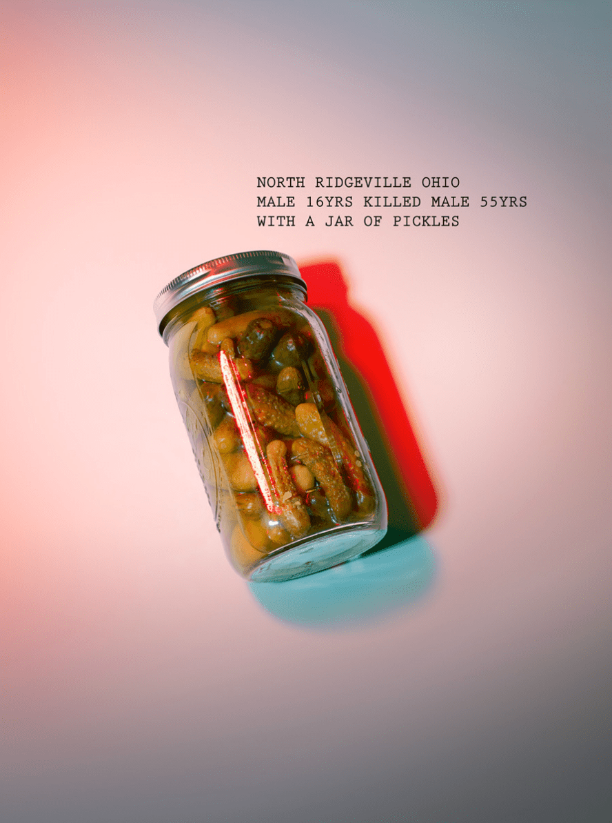 Unconventional murder weapons that were actually used: A jar of pickles