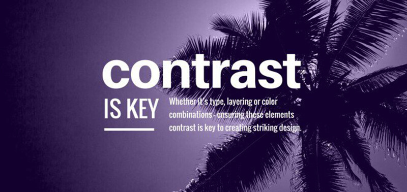 Useful graphic design tips for non-designers: Contrast