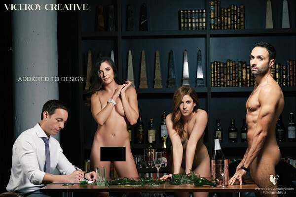 Ad executives get nude to celebrate agency's rebranding
