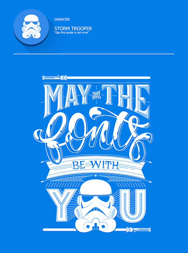 Making fun of common type mistakes using Star Wars quotes