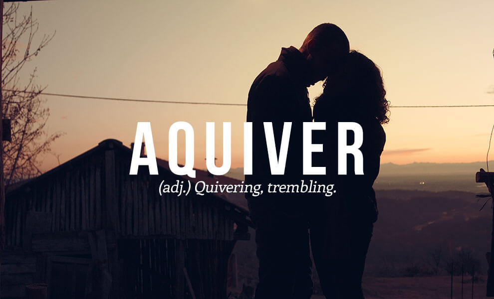 The most beautiful words in the English language: Aquiver