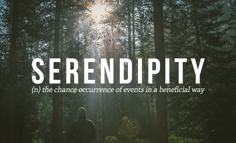 The most beautiful words in the English language: Serendipity