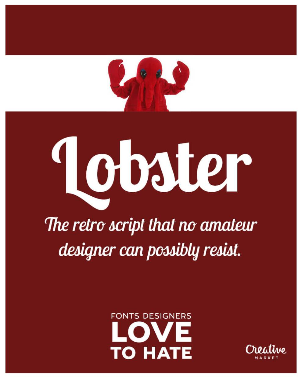 10 fonts designers love to hate: Lobster