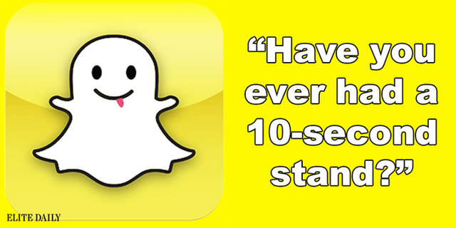 Snapchat app pick-up lines
