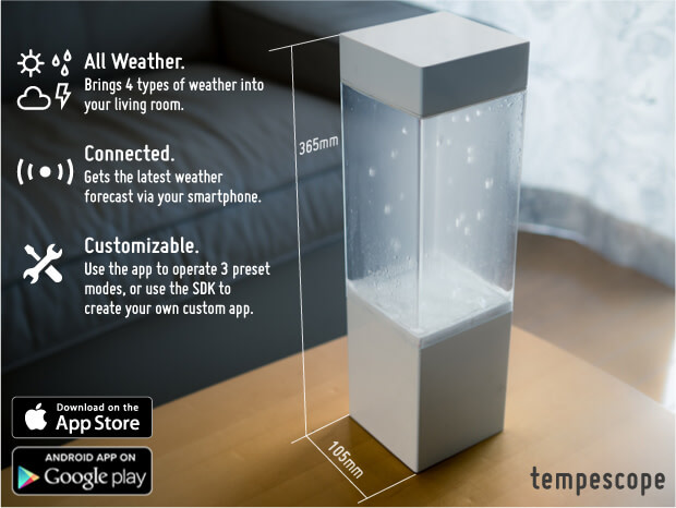 Tempescope: A device that simulates tomorrow's weather in a box