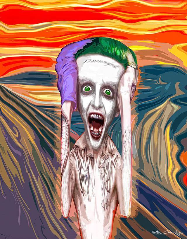 Vartan Garnikyan Batman-themed pop art: Screaming Leto