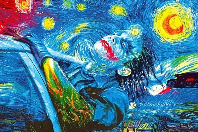 Vartan Garnikyan Batman-themed pop art: Starry Knight
