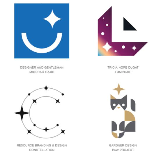Emerging logo design trends: Sparkle