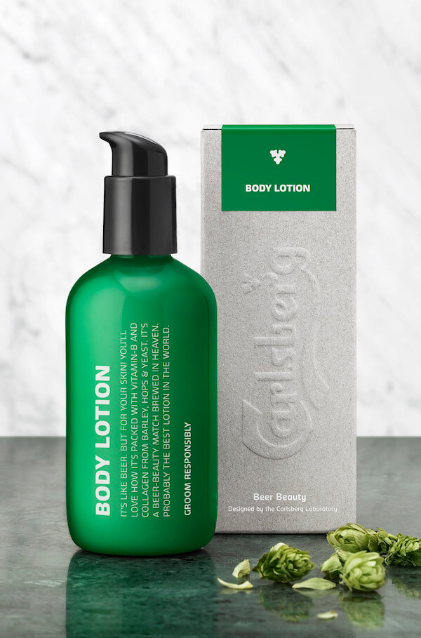 Carlsberg Limited Edition beer-infused body lotion