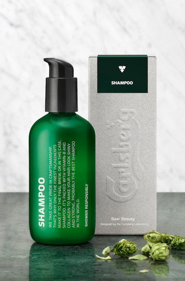 Carlsberg Limited Edition beer-infused shampoo