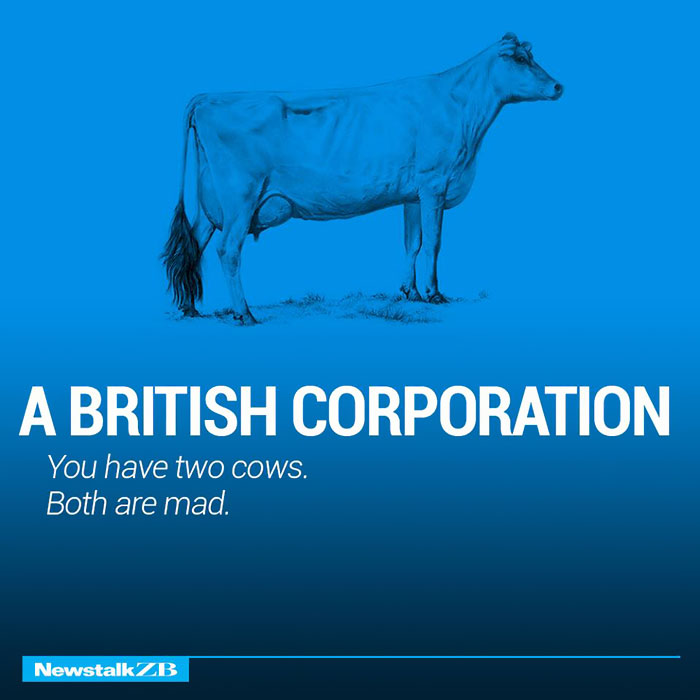 A British Corporation: You have 2 cows
